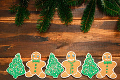 Christmas Gingerbread cookies Royalty Free Stock Image