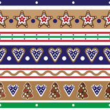 Christmas gingerbread cookies seamless pattern Royalty Free Stock Photos