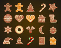 Christmas Gingerbread Cookies set Royalty Free Stock Photo