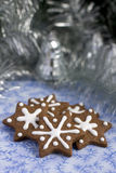 Christmas gingerbread cookies in a star shape Royalty Free Stock Images