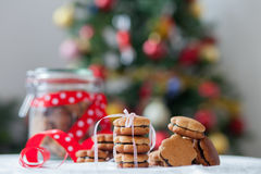 Christmas gingerbread cookies. On a table Stock Photography
