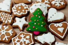 Christmas Gingerbread Cookies Royalty Free Stock Photography
