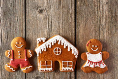 Christmas Gingerbread Couple And House Cookies