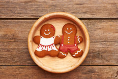 Christmas gingerbread couple Royalty Free Stock Images