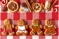 Christmas gingerbread couples cookies Royalty Free Stock Image
