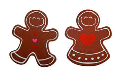 Christmas gingerbread decoration figurines Royalty Free Stock Photography