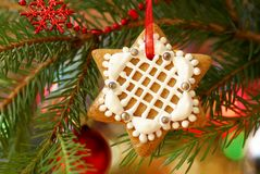 Christmas gingerbread decoration Stock Photo