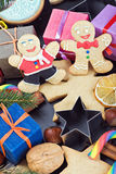Christmas gingerbread decorations Stock Photos