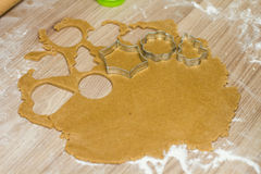 Christmas Gingerbread Dough Royalty Free Stock Images