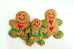 Christmas Gingerbread Family Royalty Free Stock Photos