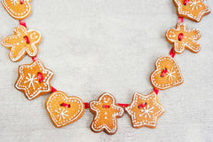 Christmas gingerbread figures Royalty Free Stock Images