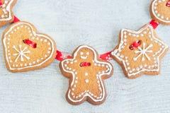 Christmas gingerbread figures Stock Photography