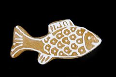 Free Christmas Gingerbread Fish Stock Images - 42946464