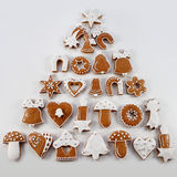 Christmas gingerbread in the form of a Christmas tree Stock Images