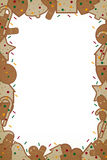 Christmas gingerbread frame Stock Photo