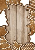 Christmas gingerbread frame Stock Image