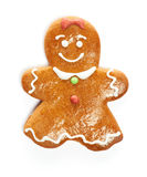 Christmas gingerbread girl cookie Royalty Free Stock Photography