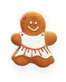 Christmas gingerbread girl cookie Royalty Free Stock Image