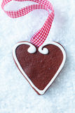 Christmas gingerbread heart Stock Photo