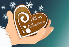Christmas gingerbread heart Stock Photography