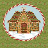 Christmas Gingerbread House royalty free illustration