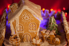 Christmas gingerbread house. Specially cooked for Christmas gingerbread house royalty free stock images