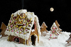 Christmas gingerbread house Royalty Free Stock Image