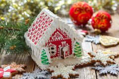Christmas gingerbread house. Stock Images