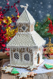 Christmas gingerbread house. Royalty Free Stock Images