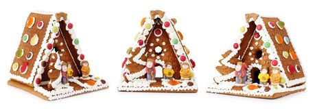 Christmas gingerbread house decoration Stock Photos