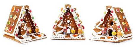 Christmas gingerbread house decoration stock photos