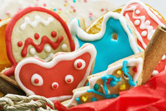 Christmas gingerbread house made Stock Photo