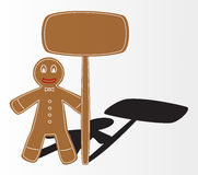 Christmas gingerbread. Illustration with table for business text Stock Images