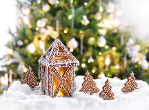 Christmas gingerbread lantern Royalty Free Stock Image