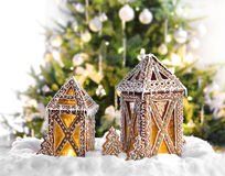 Christmas gingerbread lanterns Royalty Free Stock Photography