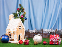 Christmas gingerbread lodge Royalty Free Stock Photo