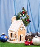 Christmas Gingerbread lodge Stock Photography