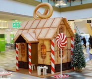 Christmas Gingerbread Loge installation Royalty Free Stock Photos