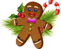 Christmas gingerbread man. Over white. EPS 10 Royalty Free Stock Image