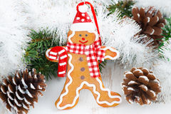 Christmas gingerbread man Stock Images