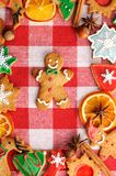 Christmas gingerbread man cookie Royalty Free Stock Image