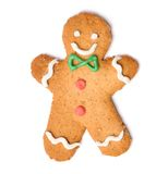 Christmas gingerbread man cookie Stock Photos