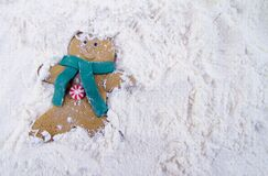Christmas Gingerbread Man Cookie Stock Image