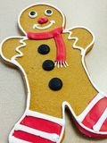 Christmas Gingerbread man cookie with frosting Stock Images