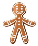 Christmas gingerbread man cookie. Isolated on white background. Holiday Illustration. Website page and mobile app design stock illustration