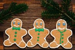 Christmas Gingerbread man cookies Stock Photos