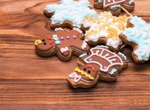 Christmas gingerbread man cookies Royalty Free Stock Image