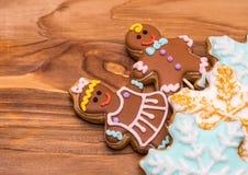 Christmas gingerbread man cookies Stock Photo