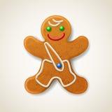Christmas gingerbread man Stock Photos