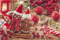 Christmas gingerbread man Stock Photography